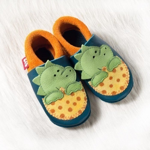 Chaussons cuir souple Dino