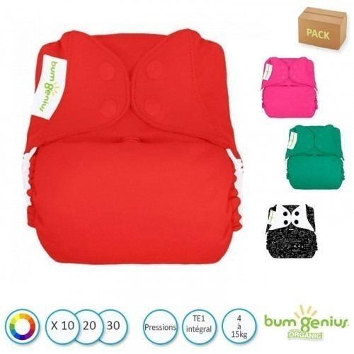 Pack couches TE1 BumGenius Bio