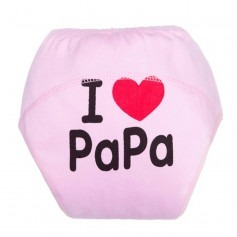 Culotte apprentissage I love Papa Rose