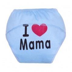 Culotte apprentissage I love Mama bleu