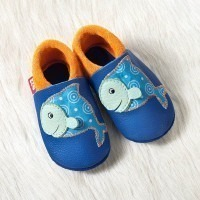Chausson cuir pololo fish