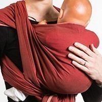 Echarpe de portage Neobulle rouge velour 4.6m