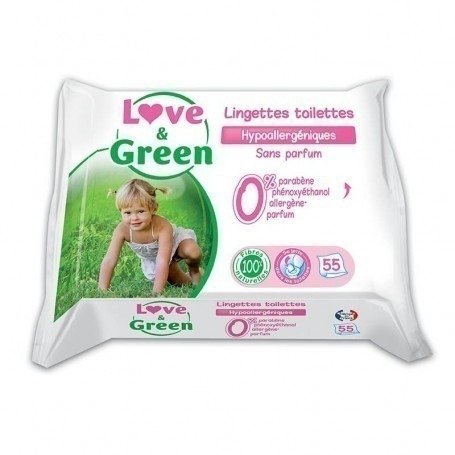 Lingettes toilettes love and green