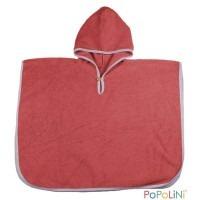 Poncho de bain Bio rouge