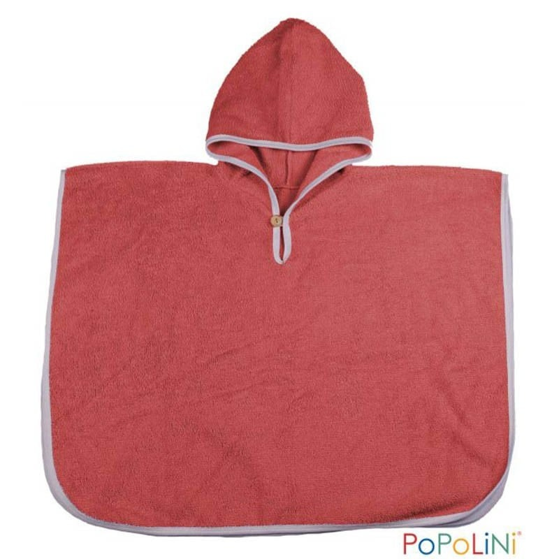 poncho de bain bio popolini rouge. Black Bedroom Furniture Sets. Home Design Ideas
