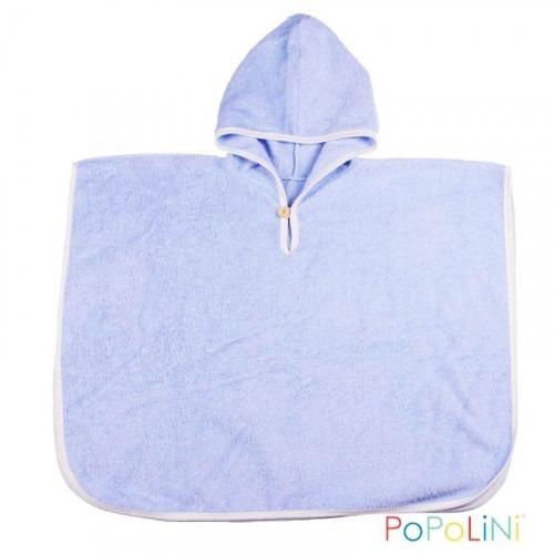 Poncho de bain Bio bleu