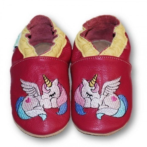 Chaussons cuir souple Pony
