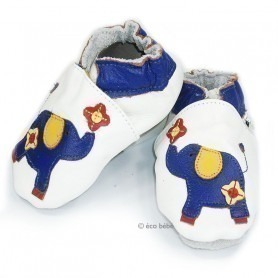 Chaussons cuir souple Elephant