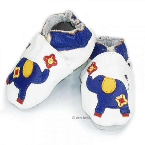 Chaussons cuir souple Ganesh