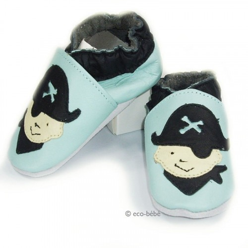 Chaussons cuir souple Pirate
