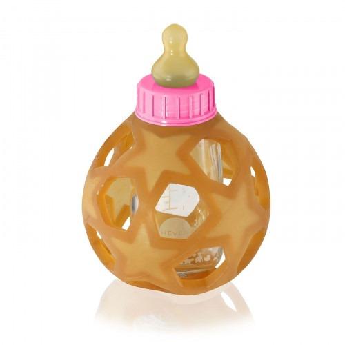 Biberon rose Hevea avec star ball 150 ml