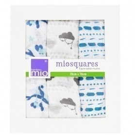 "Lot de 3 langes Miosquare ""prendre le large"""