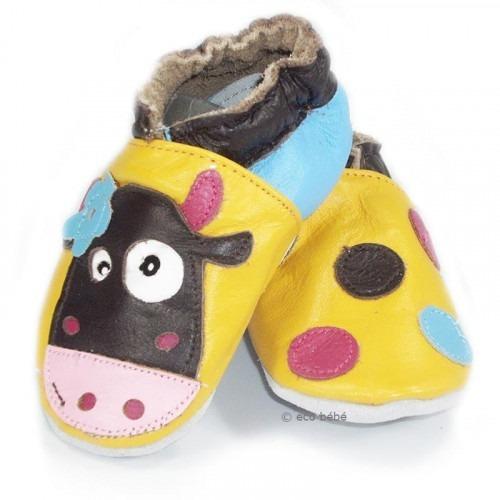 Chaussons cuir souple Vache Marguerite