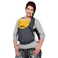 Porte bébé Click carrier By Kay reversible Jean/Jaune