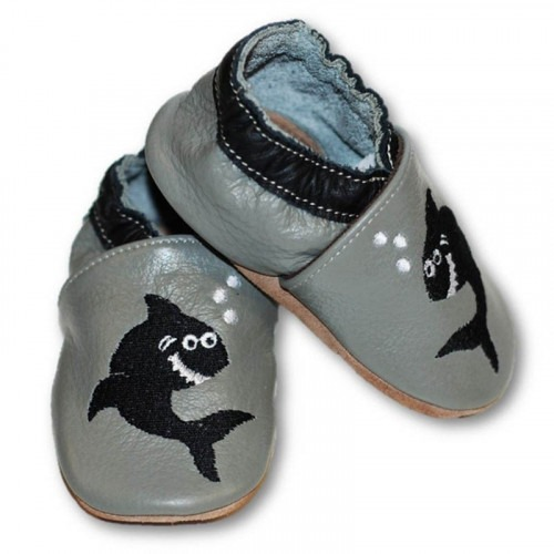 Chausson cuir souple requin