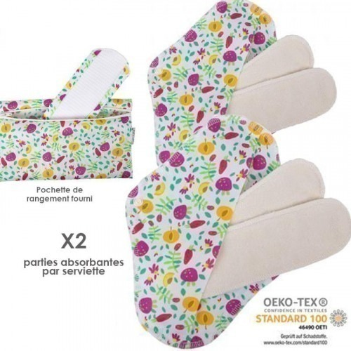 Lot de 2 protections lavables Bio Popolini