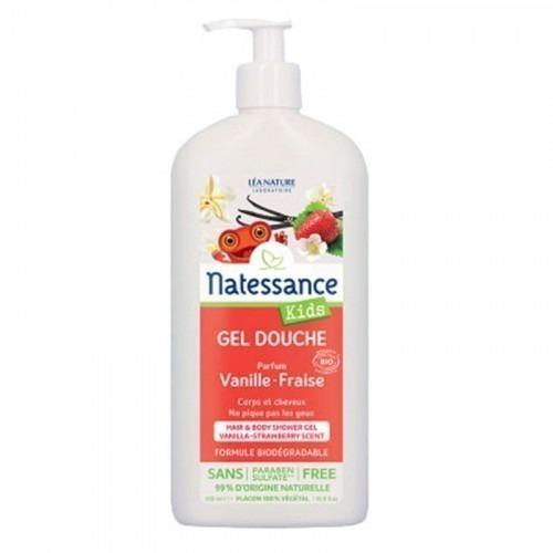 Gel douche Corps et Cheveux Natessance Vanille & Fraise 500ml