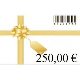Carte cadeau 250€