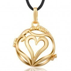 Bola Cage Deep Heart gold