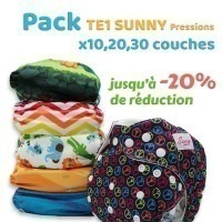 Pack couches lavables Sunny Pocket (A composer)