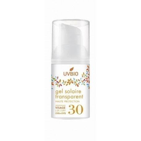 Gel solaire visage 30 ml transparent indice 30