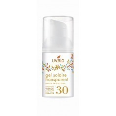 Gel solaire visage 30 ml transparent indice 30