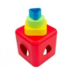 Cube bébé à formes empilables, sans plastique