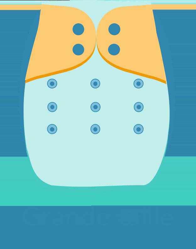 Format grande taille pour la Couche lavable à taille unique