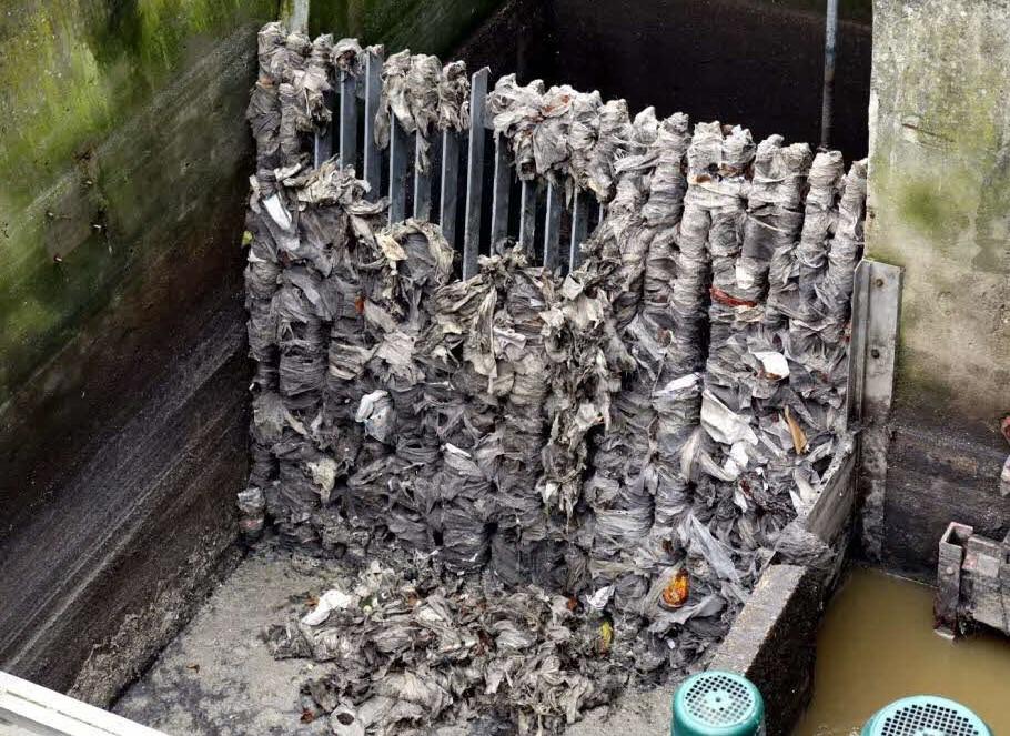 lingettes jetables et pollution