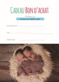 Carte Cadeau Boutique Eco Bébé