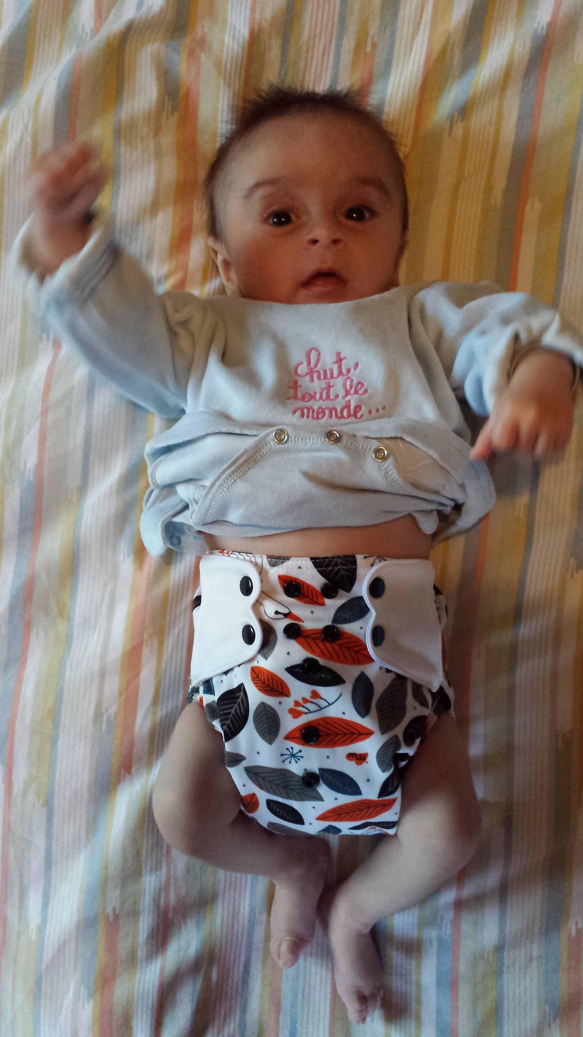 couche lavables bambinex + culotte imperméable baby wizard