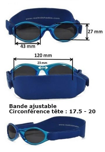 taille des lunette real kids